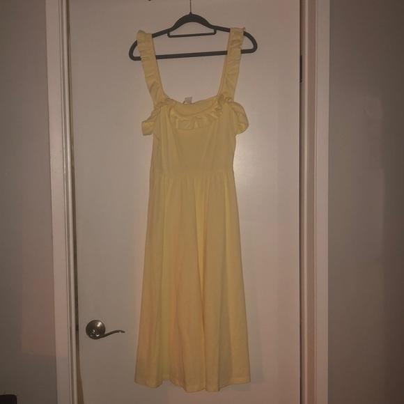 H&M Dresses & Skirts - Yellow ruffle H&M summer dress size 10